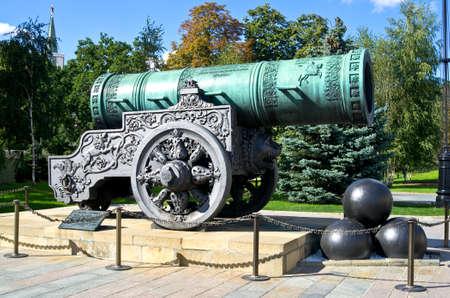 tsar: Tsar cannon in Moscow Kremlin, Russia