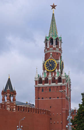 Spasskaya tower in Moscow Kremlin, Russia photo