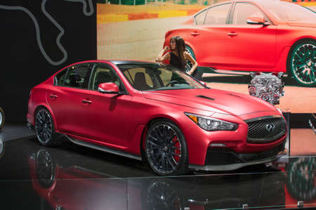 eau: Moscow-September 2: World premiere of Infiniti Q50 EAU ROUGE at the Moscow International Automobile Salon on September 2, 2014 in Moscow