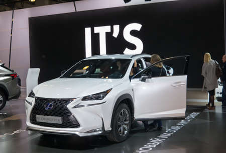 lexus: Moscow-September 2: European premiere of Lexus NX300h at the Moscow International Automobile Salon on September 2, 2014 in Moscow