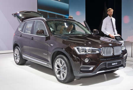 september 2: Moscow-September 2: BMW X3 at the Moscow International Automobile Salon on September 2, 2014 in Moscow