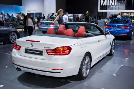 Moscow-September 2: BMW 4 series Cabrilet at the Moscow International Automobile Salon on September 2, 2014 in Moscow