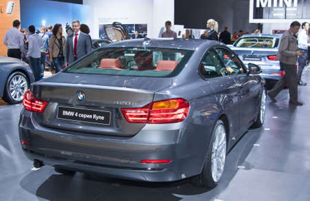 Moscow-September 2: BMW 4 series Coupe at the Moscow International Automobile Salon on September 2, 2014 in Moscow