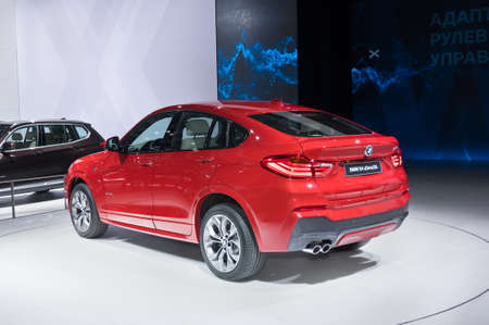 Moscow-September 2: BMW X4 at the Moscow International Automobile Salon on September 2, 2014 in Moscow