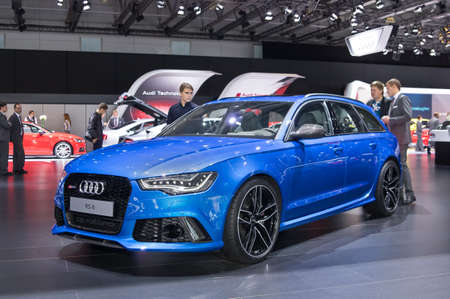 Moscow-September 2: Audi RS6  at the Moscow International Automobile Salon on September 2, 2014 in Moscow Editorial