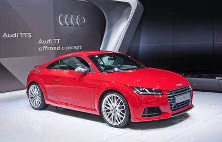 september 2: Moscow-September 2: Audi TTS at the Moscow International Automobile Salon on September 2, 2014 in Moscow