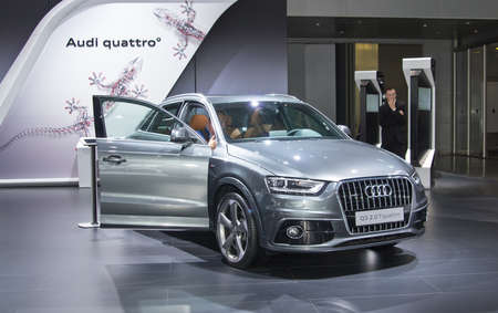 september 2: Moscow-September 2: Audi Q3  at the Moscow International Automobile Salon on September 2, 2014 in Moscow Editorial