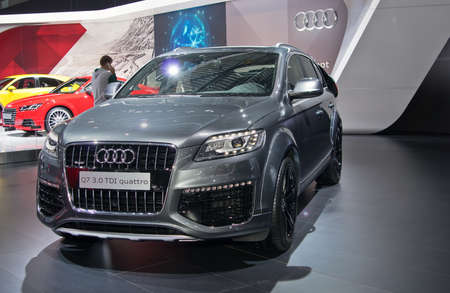 september 2: Moscow-September 2: Audi Q7  at the Moscow International Automobile Salon on September 2, 2014 in Moscow Editorial