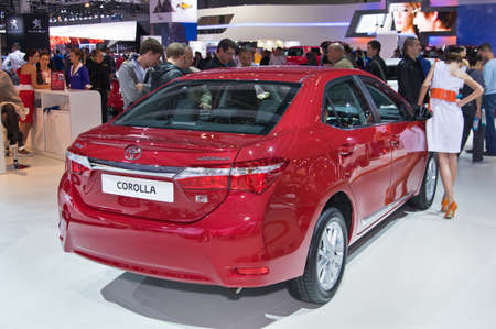 september 2: Moscow-September 2: Toyota Corolla  at the Moscow International Automobile Salon on September 2, 2014 in Moscow Editorial