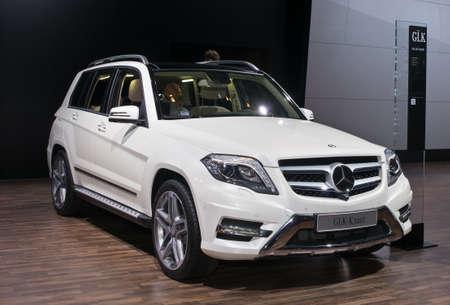 Moskou-september 2: Mercedes-Benz GLK 250 op de Moscow International Automobile Salon op 2 september 2014 in Moskou Redactioneel