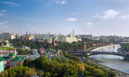 Panorama of Moscow Kremlin in Moscow, Russia photo
