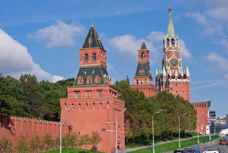 Towers and wall of Moscow Kremlin, Russia photo