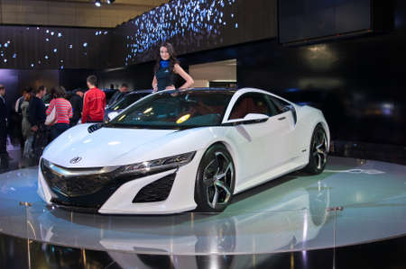 acura: MOSCOW-SEPTEMBER 2: Acura NSX hybrid concept at the Moscow International Automobile Salon on September 2, 2014 in Moscow, Russia
