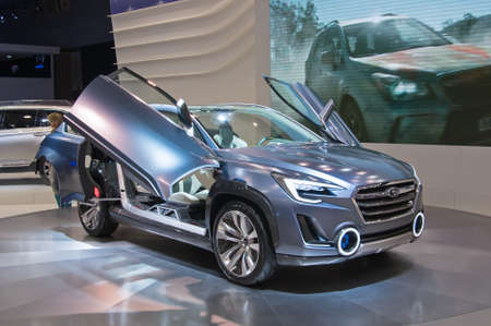 MOSCOW-SEPTEMBER 2: Subaru Viziv 2 concept at the Moscow International Automobile Salon on September 2, 2014 in Moscow, Russia