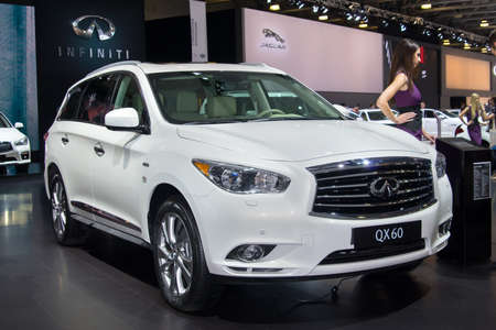 infiniti: MOSCOW-SEPTEMBER 2: Infiniti QX60 at the Moscow International Automobile Salon on September 2, 2014 in Moscow, Russia