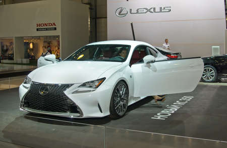lexus auto: MOSCOW-SEPTEMBER 2: Lexus RC 350 at the Moscow International Automobile Salon on September 2, 2014 in Moscow, Russia