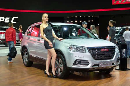 september 2: MOSCOW-SEPTEMBER 2:Haval H6 at the Moscow International Automobile Salon on September 2, 2014 in Moscow, Russia