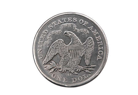 american silver eagle: Silver dollar of the USA Stock Photo