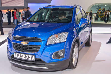 chevrolet: Moscow-September 2: Chevrolet Tracker at the Moscow International Automobile Salon on September 2, 2014 in Moscow Editorial