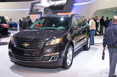 traverse: Moscow-September 2: Chevrolet Traverse at the Moscow International Automobile Salon on September 2, 2014 in Moscow