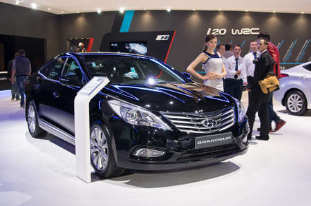 grandeur: Moscow-September 2: Hyundai Grandeur at the Moscow International Automobile Salon on September 2, 2014 in Moscow