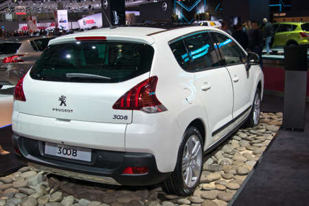 september 2: Moscow-September 2: Peugeot 3008 at the Moscow International Automobile Salon on September 2, 2014 in Moscow
