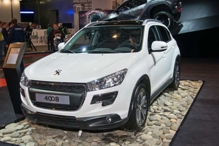september 2: Moscow-September 2: Peugeot 4008 at the Moscow International Automobile Salon on September 2, 2014 in Moscow