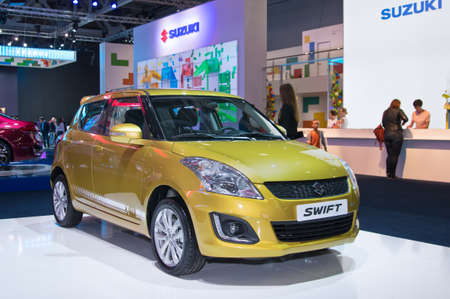 suzuki: Moscow-September 2: Suzuki Swift  at the Moscow International Automobile Salon on September 2, 2014 in Moscow