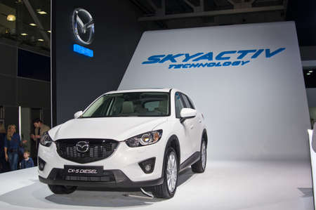 september 2: Moscow-September 2: Mazda CX-5 at the Moscow International Automobile Salon on September 2, 2014 in Moscow