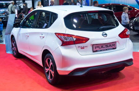 pulsar: Tartu - September 26: Nissan Pulsar at the Tartu Motoshow on September 26, 2015 in Tartu, Estonia