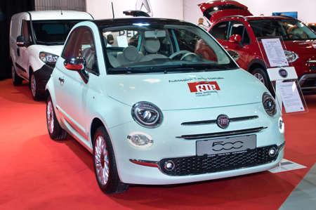 samll: Tartu - September 26: Fiat 500 at the Tartu Motoshow on September 26, 2015 in Tartu, Estonia