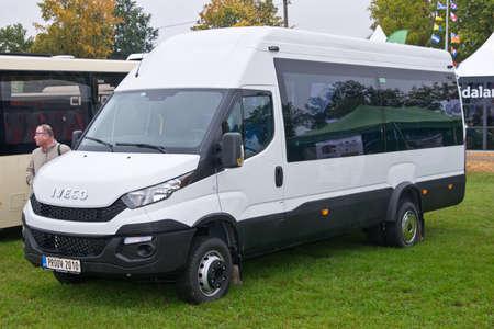 minibus: Tartu - September 26: Iveco Daily minibus at the Tartu Motoshow on September 26, 2015 in Tartu, Estonia