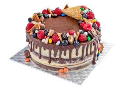 Cono De Helado Como Decoración De La Torta De Chocolate