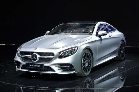 Frankfurt-September 20: Mercedes-Benz S 560 4Matic coupe  at the Frankfurt International Motor Show on September 20, 2017 in Frankfurt