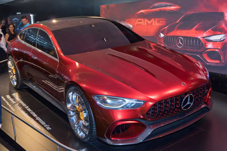 Frankfurt-September 20: Mercedes-AMG GT Concept  at the Frankfurt International Motor Show on September 20, 2017 in Frankfurt Stock Photo - 86513171
