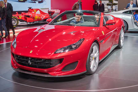 Frankfurt-September 20:  Ferrari Portofino  at the Frankfurt International Motor Show on September 20, 2017 in Frankfurt
