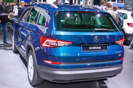 Frankfurt-September 20:  Skoda Kodiaq at the Frankfurt International Motor Show on September 20, 2017 in Frankfurt Editorial
