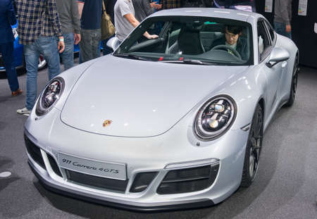 Frankfurt-September 20:  Porsche 911 Carrera 4 GTS at the Frankfurt International Motor Show on September 20, 2017 in Frankfurt