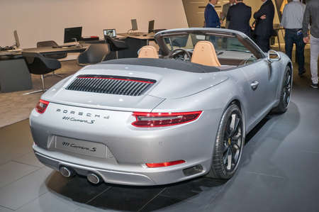 Frankfurt-September 20:  Porsche 911 Carrera S at the Frankfurt International Motor Show on September 20, 2017 in Frankfurt Editorial