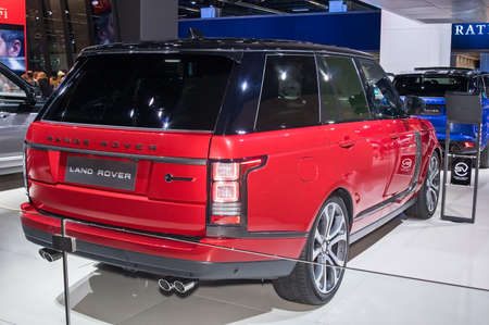 Frankfurt-September 20:  Land Rover Range Rover SV at the Frankfurt International Motor Show on September 20, 2017 in Frankfurt