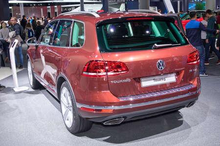 Frankfurt-September 20:  Volkswagen Touareg at the Frankfurt International Motor Show on September 20, 2017 in Frankfurt
