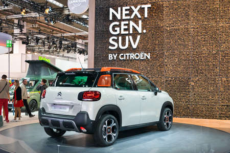 Frankfurt-September 20:  Citroen C3 Aircross at the Frankfurt International Motor Show on September 20, 2017 in Frankfurt
