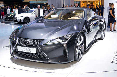 Frankfurt-September 20:  Lexus LC500 at the Frankfurt International Motor Show on September 20, 2017 in Frankfurt Editorial