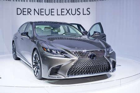 Frankfurt-September 20:  Lexus LS 500 at the Frankfurt International Motor Show on September 20, 2017 in Frankfurt Editorial