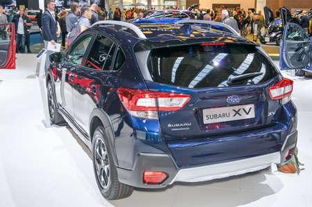 Frankfurt-September 20:  Subaru SV at the Frankfurt International Motor Show on September 20, 2017 in Frankfurt