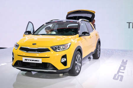 Frankfurt-September 20:  Kia Stonic at the Frankfurt International Motor Show on September 20, 2017 in Frankfurt