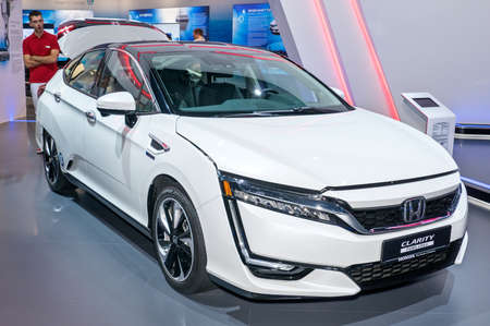 Frankfurt-September 20:  Honda Clarity Fuel Cell at the Frankfurt International Motor Show on September 20, 2017 in Frankfurt Reklamní fotografie - 88661649