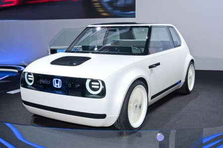 Frankfurt-September 20:  Honda Urban EV Concept at the Frankfurt International Motor Show on September 20, 2017 in Frankfurt Editorial