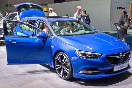 Frankfurt-September 19: Opel Insignia at the Frankfurt International Motor Show on September 19, 2019 in Frankfurt, Germany