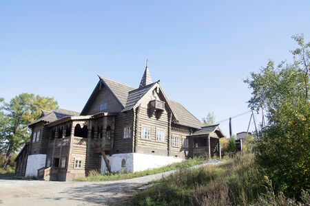 Manor of the Russian landowner. Sightseeing in a small town in the Urals
